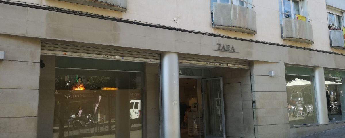 La botiga de Zara a La Riera. Foto: V. B.