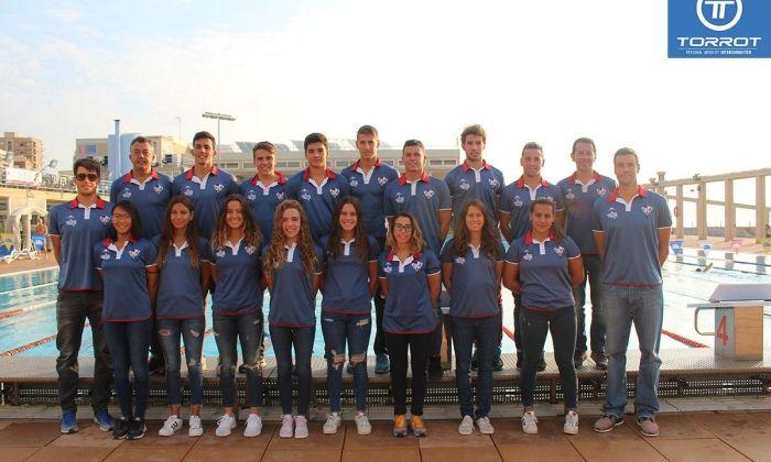 L'equip de natació.