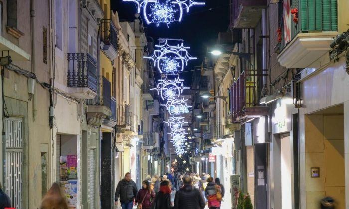 Enllumenat al carrer Santa Teresa pel Nadal del 2016. Foto: R.Gallofré