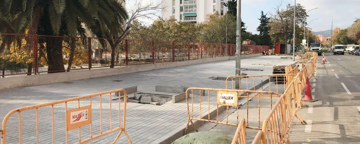 Obres al Camí del Mig. Foto: R. Gallofré