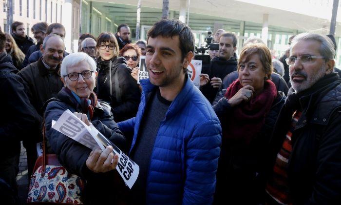 L'alcalde d'Argentona, Eudald Calvo, a la Ciutat de la Justícia. Foto: ACN