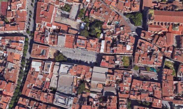Vista d'ocell del casc antic de Mataró