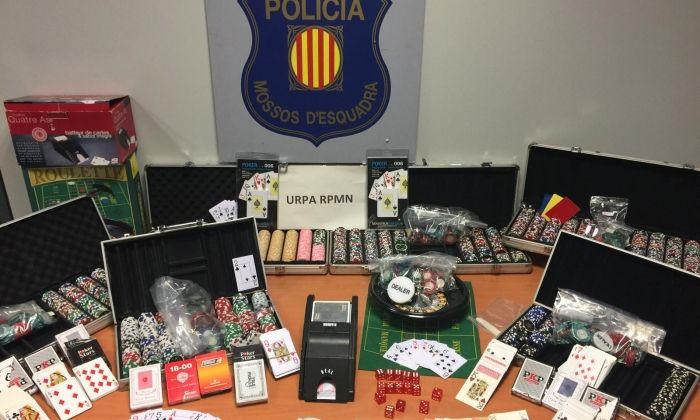 Material decomissat. Foto: Mossos d'Esquadra
