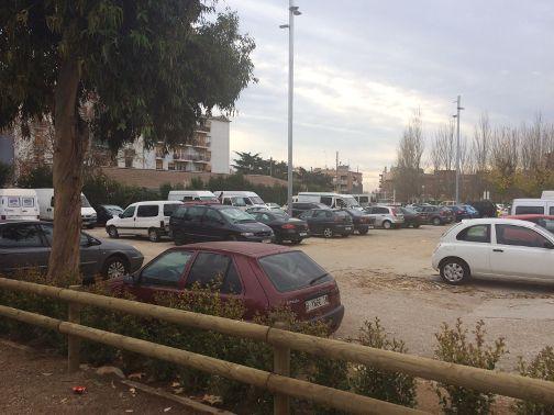 L'aparcament del barri de Cerdanyola. Foto: Ajuntament