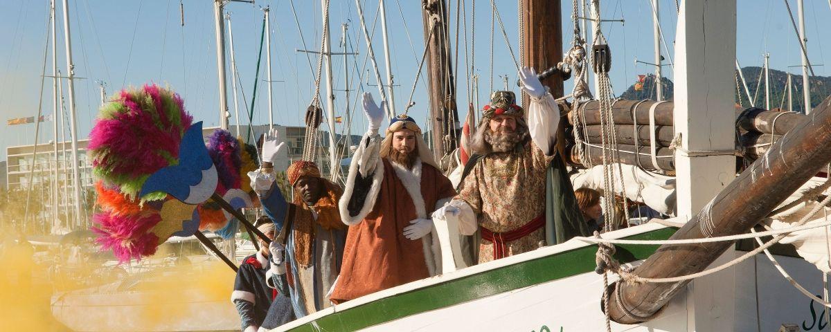 Els Missatgers Reials arribant al Port de Mataró, a bord del Sant Ramon