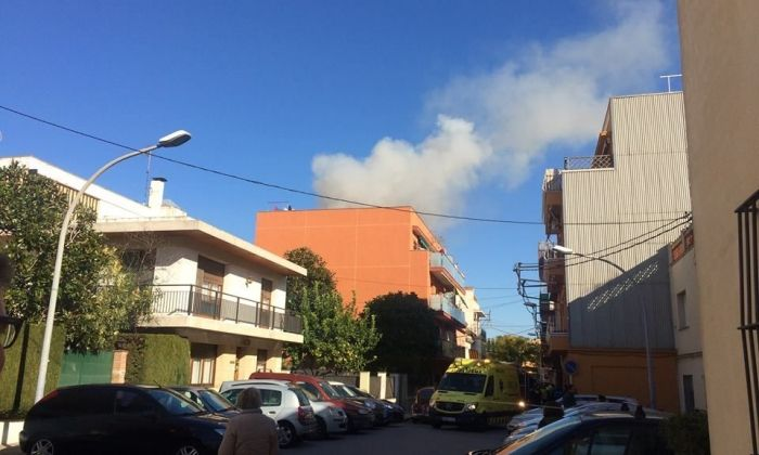 Imatge de l'incendi. Foto: Ajuntament de Vilassar de Mar