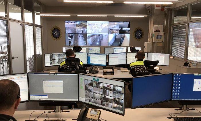La nova sala de coordinació de la Policia Local. Aquí es derivaran les trucades al 112 que siguin per aquest cos.