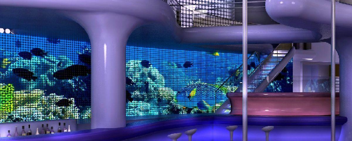 Recreació virtual de les sales de ball del prostíbul que es vol construir a Mataró. Foto: ACN