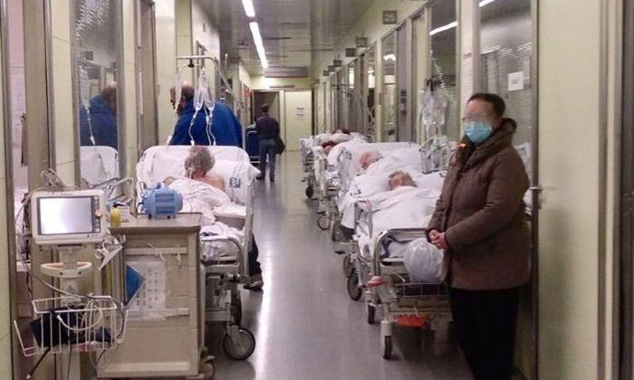Una imatge del 15 de febrer amb urgències ple a vessar.