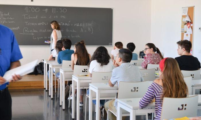 Una aula del TecnoCampus
