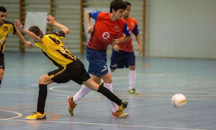 Una imatge del partit. Foto: Futsal / Martí Altaba