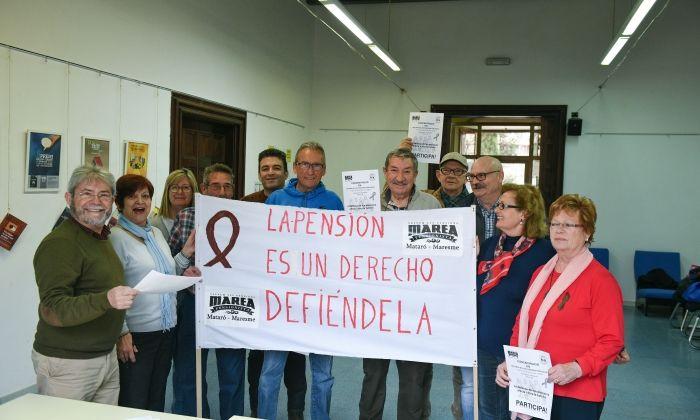 Membres de la Marea Pensionista de Mataró. Foto: R. G.