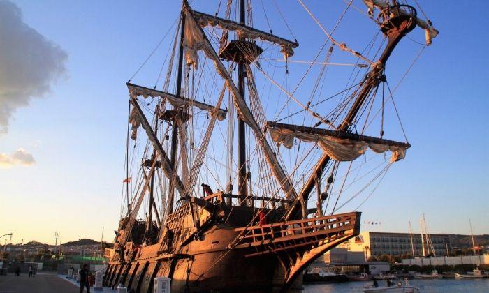 El vaixell al port de Mataró. Foto: Varador 2000