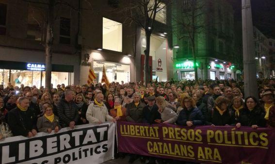 Un instant de la manifestació. Foto: V. B.