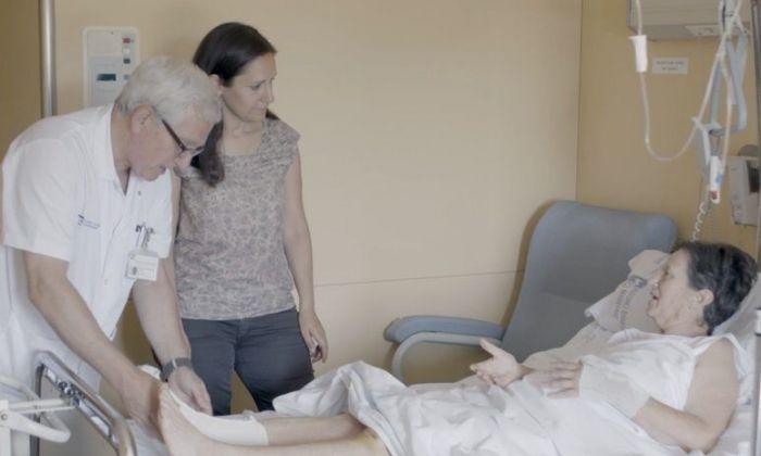 El prototip en un pacient de l'Hospital.
