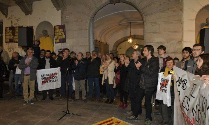 Representants dels grups, en una manifestació recent