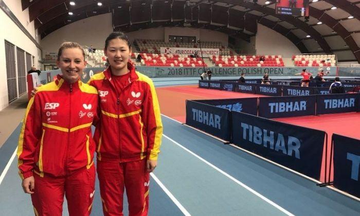 Dvorak i Xiao a la cita de Polònia. Foto: RFETM