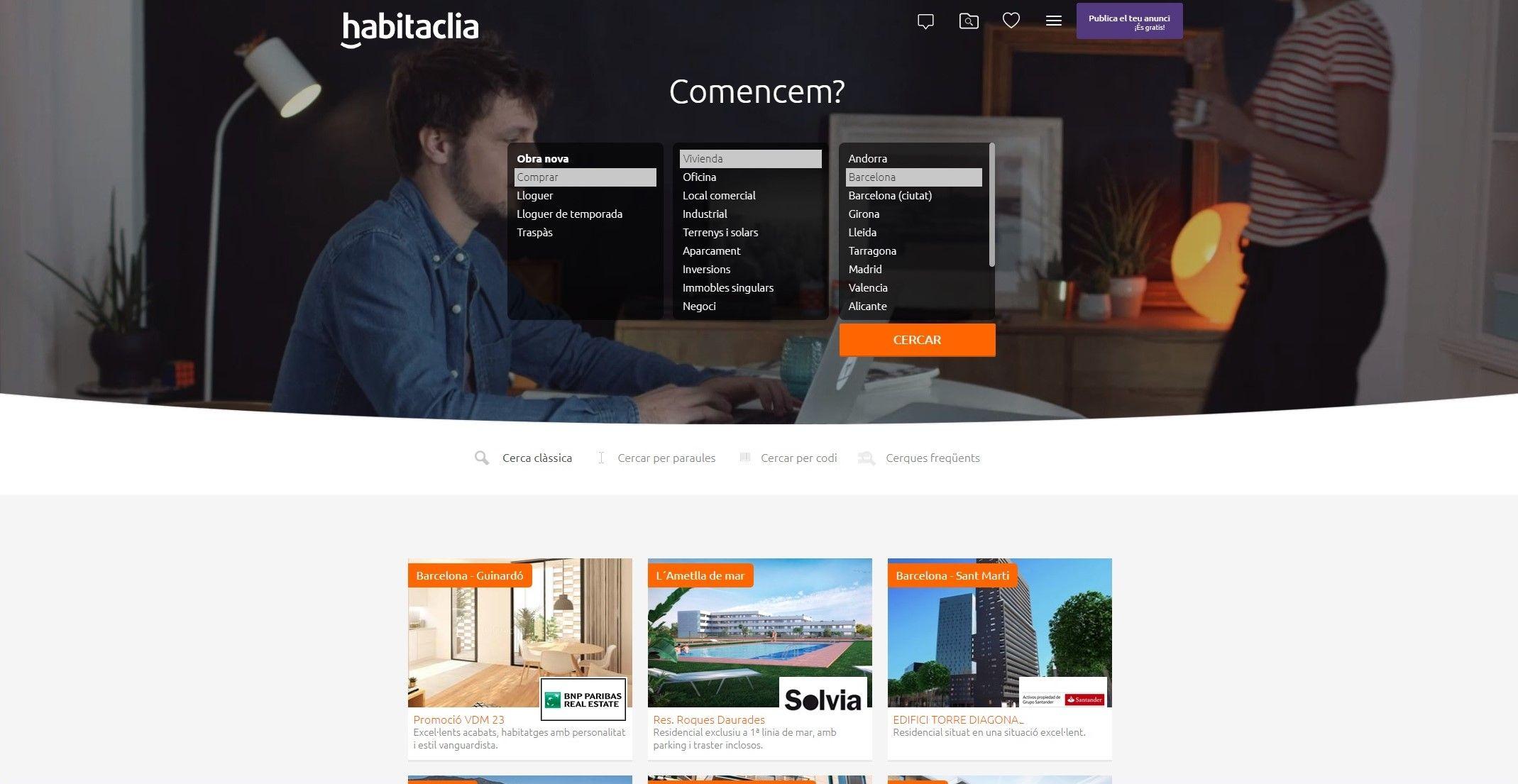 Habitaclia deixa matar i trasllada les seves oficines a for Caixa d enginyers oficines barcelona