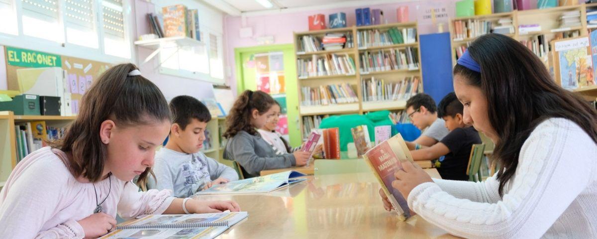 Biblioteca de l'escola Germanes Bertomeu. Foto: R.Gallofré