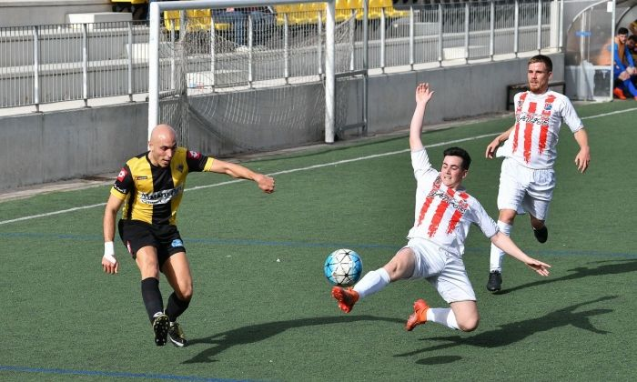 Un partit del CE Mataró aquesta temporada.