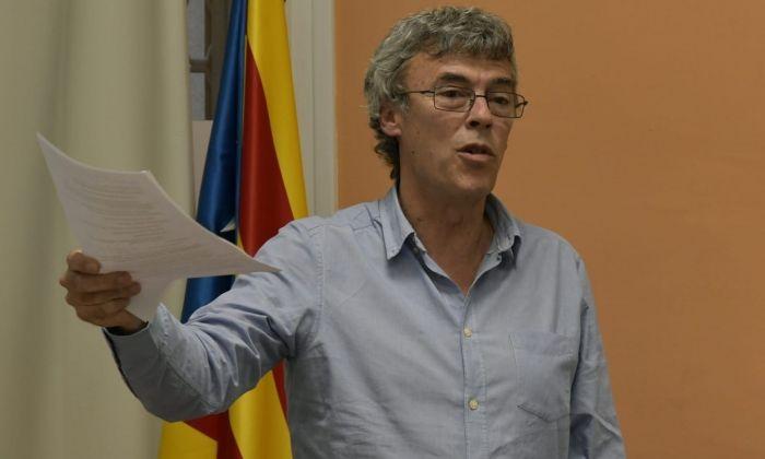 Teixidó, durant l'Assemblea Local. Foto: ERC