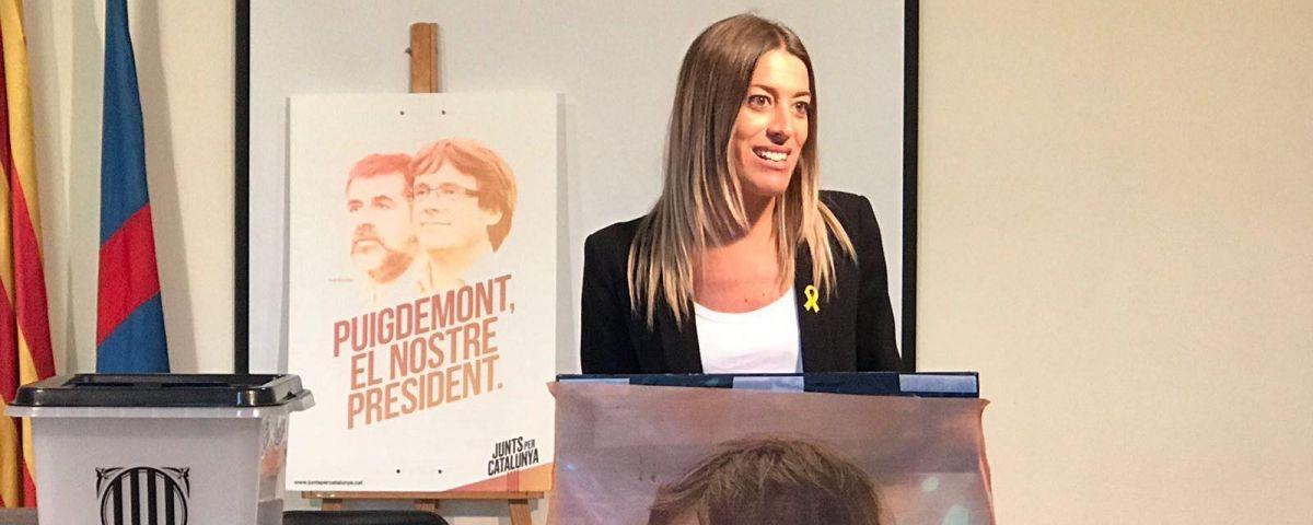 Miriam Nogueras, durant l'assemblea del partit. Foto: PDECAt