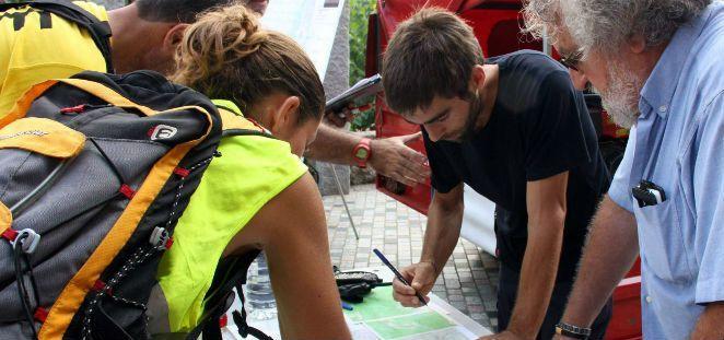 Participants a l'operatiu de recerca que s'ha realitzat diumenge a Òrrius