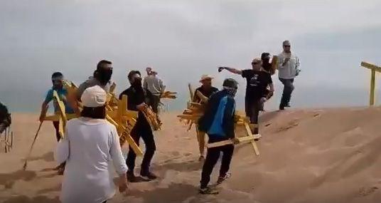 Fragment de vídeo que retrata l'acció. Segadors del Maresme