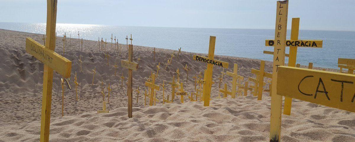 Creus a Canet de Mar, aquest dilluns. Foto: CDR Canet