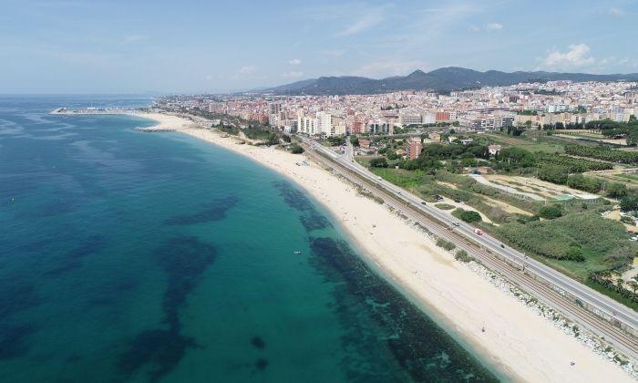 2,2km de platja a Mataró.
