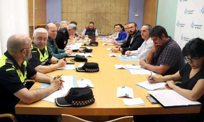La Junta Local de Seguretat on es va tractar com afrontar l'acte. Foto: ACN