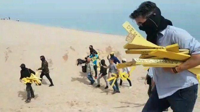 L'acció de Segadors del Maresme a Canet de Mar.