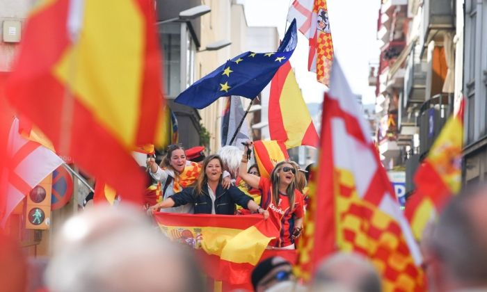 Manifestació espanyolista. Foto: R.Gallofré