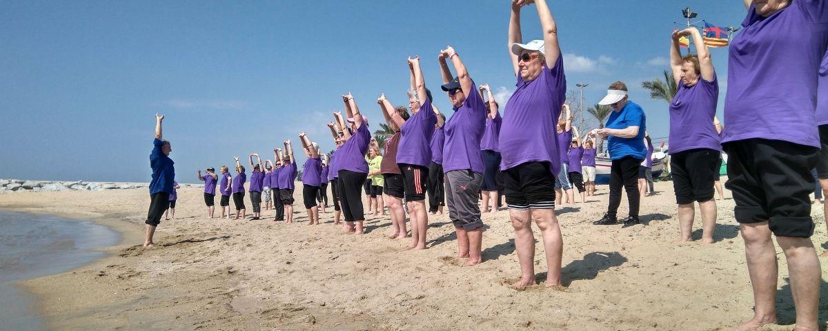 Exercicis a la platja. Foto: E. A.