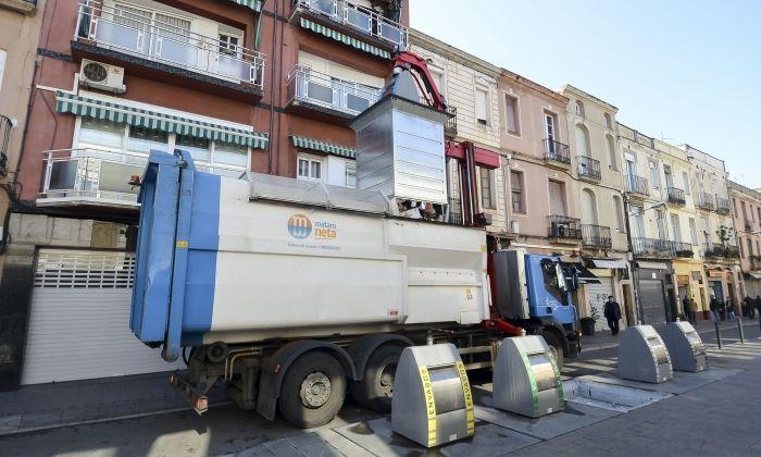 Un camió del servei de recollida de residus