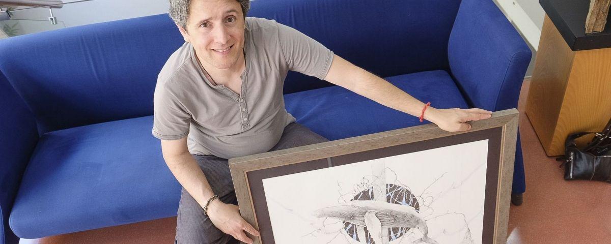 Una de les obres de la mostra 'Gaia' de Máximo Almeida a l'Espai Capgròs