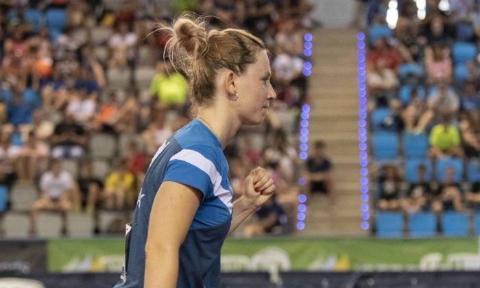 La jugadora mataronina durant un instant de la final. Foto: RFETM.