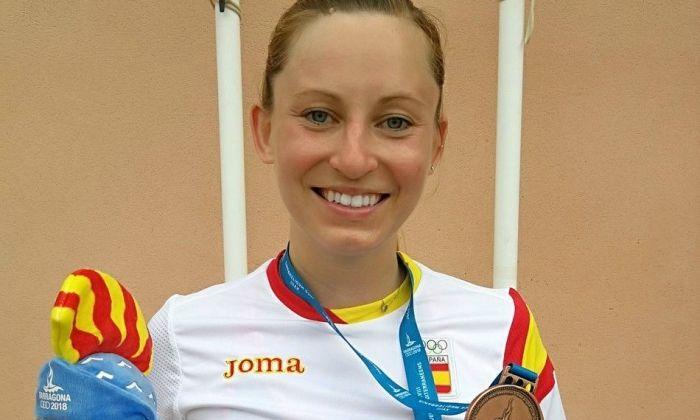 La jugadora amb la medalla. Foto: @galiadvorak