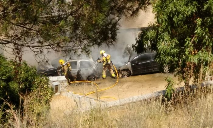 Imatge de l'incendi. Foto: Cedida per Cerdanyola Directo / M. M.