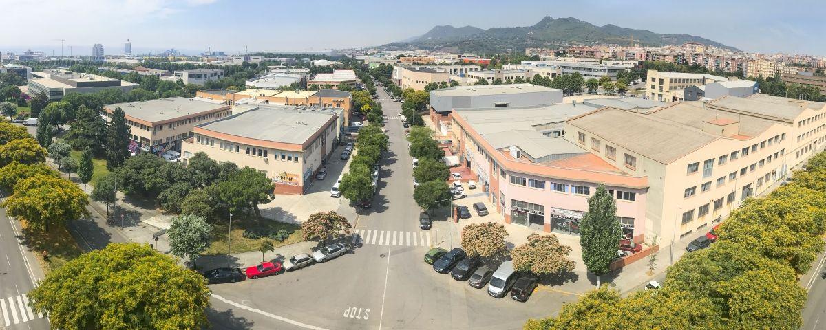 Panoràmica del polígon industrial de Pla d'en Boet a Mataró.