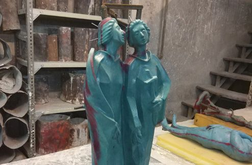 L'escultura, refeta. Foto: Cultura Mataró