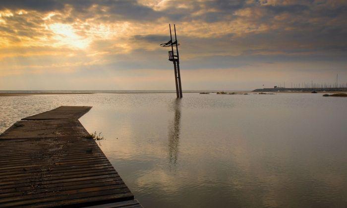 Efectes d'un temporal a la platja de Mataró. Fioto: R.Gallofré