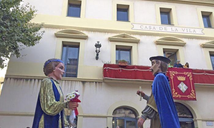 El gegants de Sant Andreu de Llavaneres