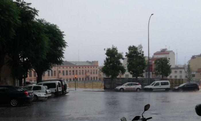 Pluja aquest dilluns al matí a Mataró