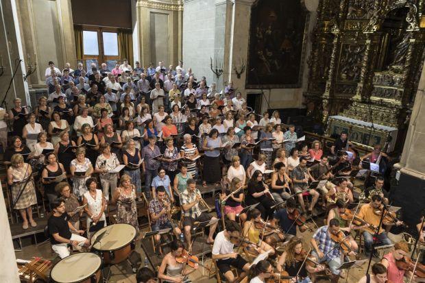 Assaig de la Missa de les Santes