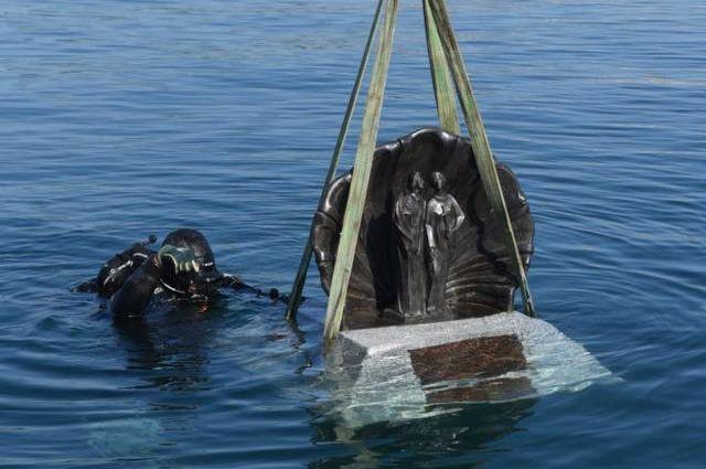 Les Santes, a punt de submergir-se. Foto: cedida per l'Ajuntament de Mataró