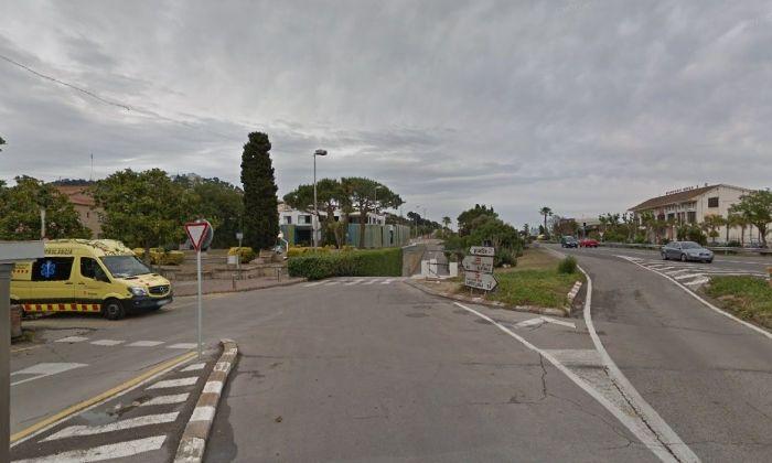 Lloc aproximat dels fets. Tram N-II Santa Susanna / Foto: Google Maps