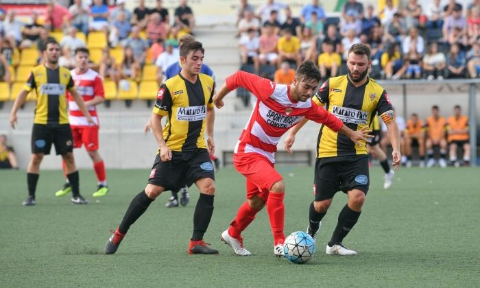 Un partit del CE Mataró aquesta temporada. Foto: R.Gallofré