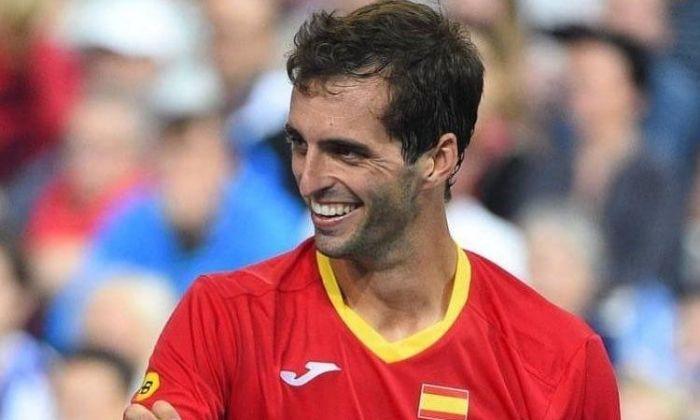 Albert Ramos a la Davis Cup. Foto: @albertramosvinolas