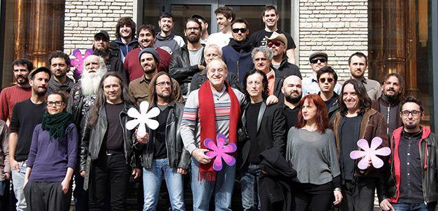 Foto de família de la presentació del festival